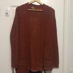 Shaggy fun cardigan